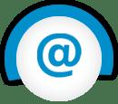 電子郵件藍色圖標